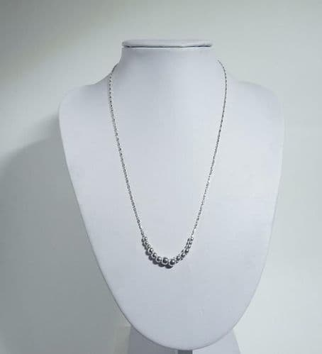 925 Sterling Silver Graduated Classic Ball Necklace